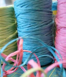 разноцветная рафия для рукоделия - raznotsvetnaya rafiya dlya rukodeliya