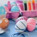 Пасхальные яйца с узором