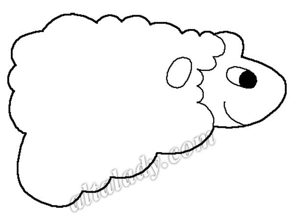 шаблон овечки - shablon ovechki
