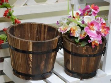 деревянные цветочные горшки и кашпо - derevyannye tsvetochnye gorshki i kashpo