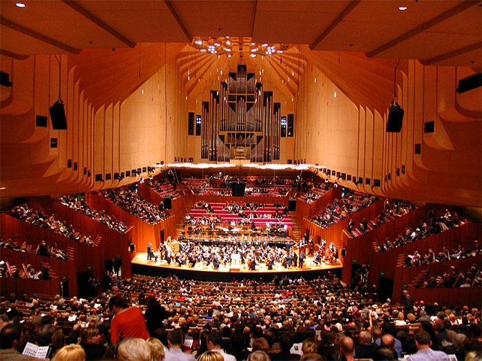 Сиднейский оперный театр вид изнутри - Sydneyskiy opernyi teatr vid iznutri