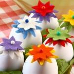 Поделка из яиц «Цветы»