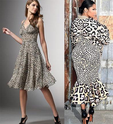 леопардовый узор, платье