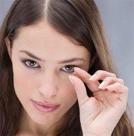 макияж при контактных линзах