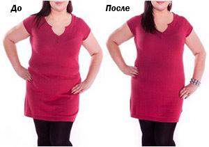 Утягивающее белье: до и после