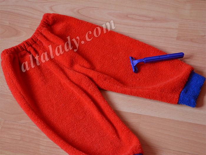 катышки на одежде: после удаления бритвой